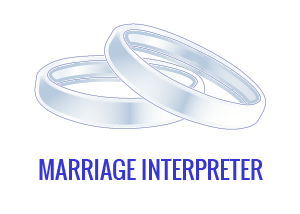 Interpreter for wedding notifications and civil wedding ceremonies